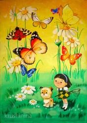 Выполню художественную роспись в детском помещении