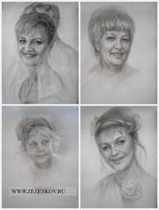 Портрет по фото в технике карандаш